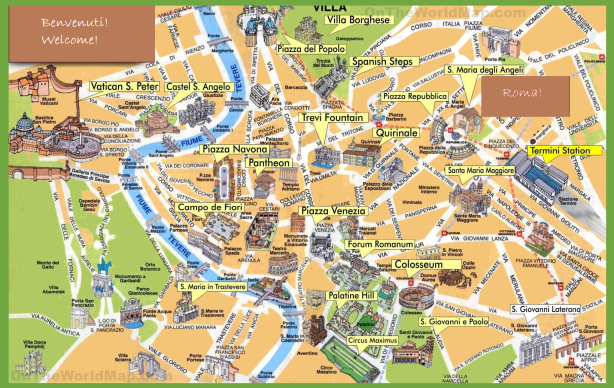 walking map to help you get around during your one day in Rome
