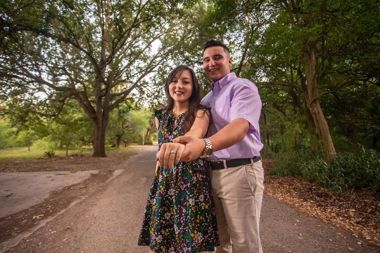engaged couple weslaco texas