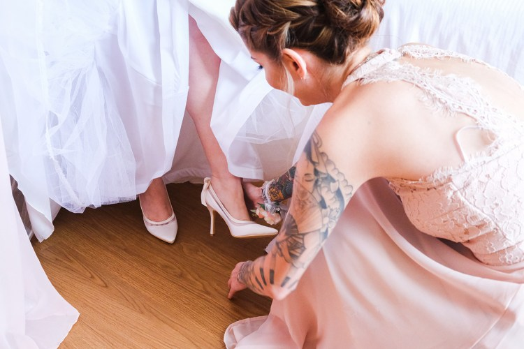 wedding day heels mcallen hotel wedding