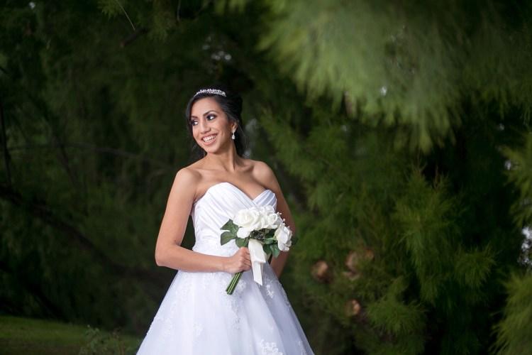 smiling bridal portrait san antonio