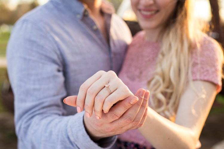 pink engagement ring photo
