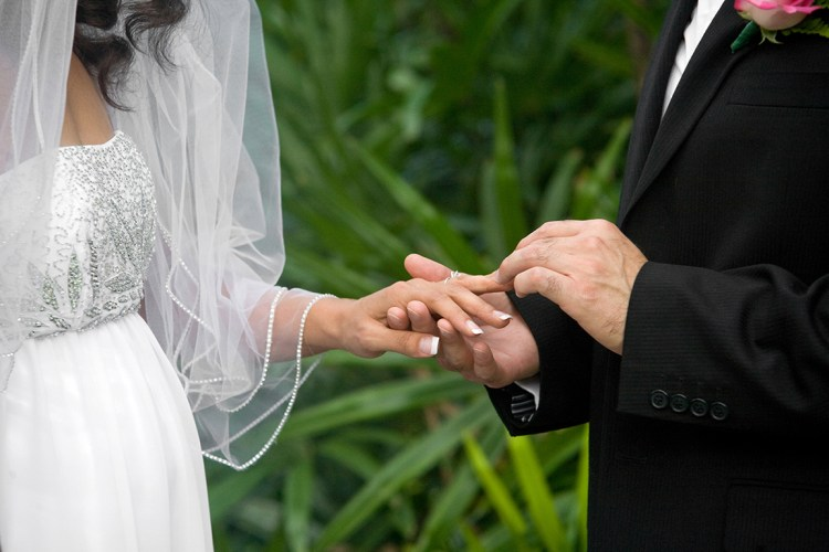 ring exchange backyard wedding rgv