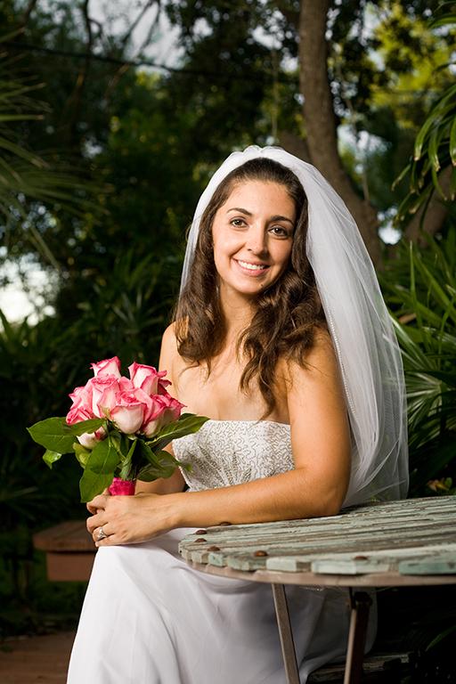 bride backyard wedding portraits rgv