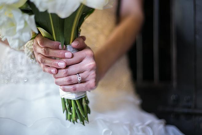hands holding bridal bouquet mcallen texas