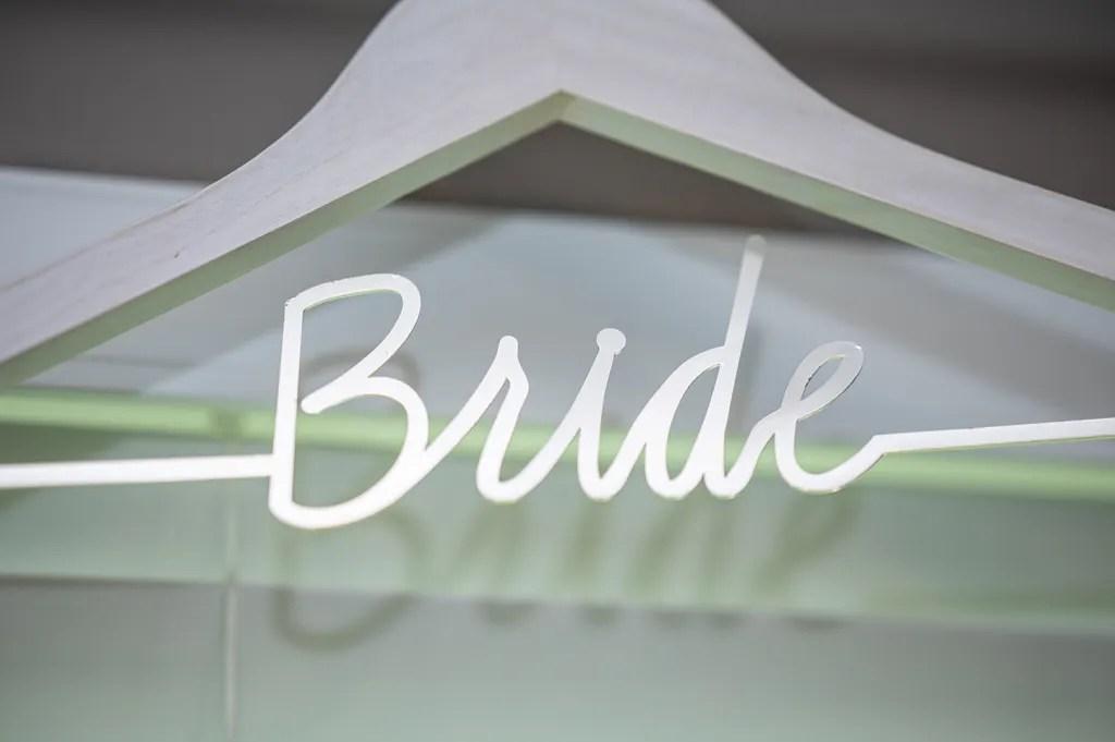 bride wedding hanger