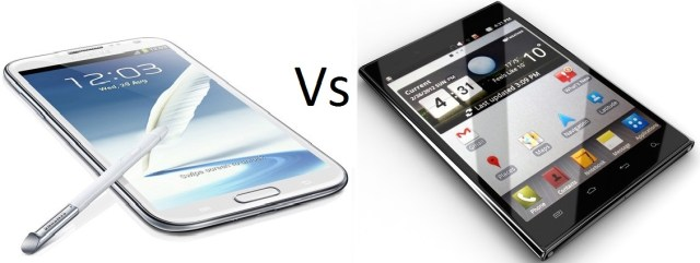 Samsung Galaxy Note 2 vs. LG Optimus Vu 2 – The War of the Phablets