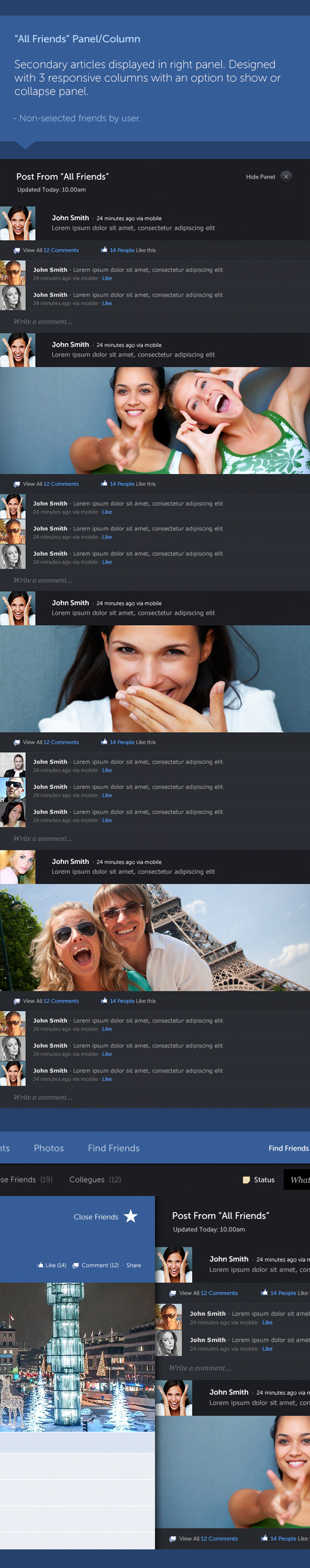 Facebook new design concept 4