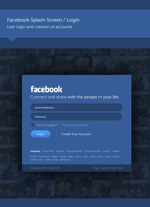 Facebook new design concept 1