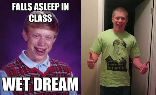Origin of bad luck brian meme
