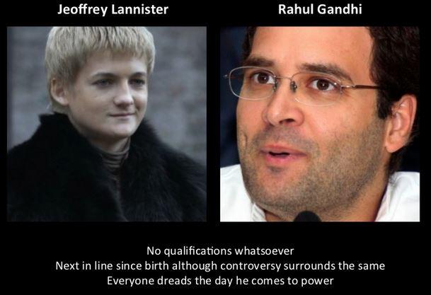 Rahul Gandhi as Jeoffrey Lannister