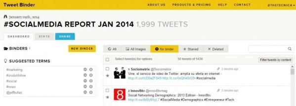 Tweet Binder Tool snapshot