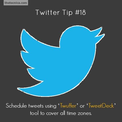 Twitter tip 18