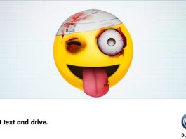 Campaign Volkswagen Text and Drive
