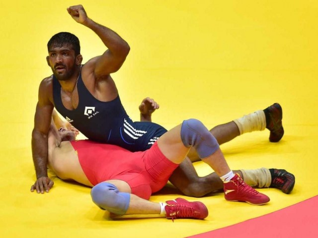 Yogeshwar Dutt Reacts After Clinching The Gold Medal