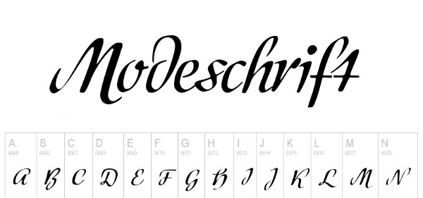 handwriting-fonts-modeschrift