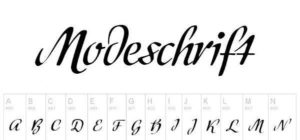 handwriting-fonts-modeschrift