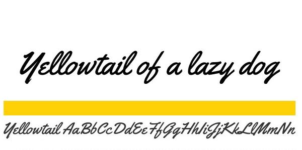"""handwriting-fonts-yellowtail """"width ="""" 600 """"height ="""" 299 """"srcset ="""" https://i1.wp.com/beebom.com/wp-content/uploads/2015/02/handwriting-fonts-yellowtail.jpg?w=1160&ssl=1 600w, https: // beebom.com/wp-content/uploads/2015/02/handwriting-fonts-yellowtail-300x149.jpg 300w """"sizes ="""" (max-width: 600px) 100vw, 600px """"/> Yellowtail - это явно наклонный сценарий рукописного ввода с фантастический поток. Веб-дизайнеры оценят тот факт, что лицензия Yellowtail допускает встраивание @ font-face. Вы можете выбрать подмножества и форматы шрифтов на странице загрузки.</p data-recalc-dims="""