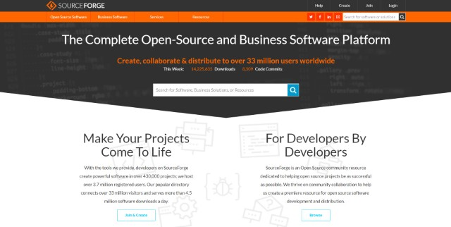 """Sourceforge """"width ="""" 640 """"height ="""" 322 """"srcset ="""" https://i1.wp.com/beebom.com/wp-content/uploads/2015/03/Sourceforge.jpg?w=1160&ssl=1 640w, https://beebom.com/wp-content/ uploads / 2015/03 / Sourceforge-300x151.jpg 300w """"size ="""" (максимальная ширина: 640px) 100vw, 640px """"/></p data-recalc-dims="""