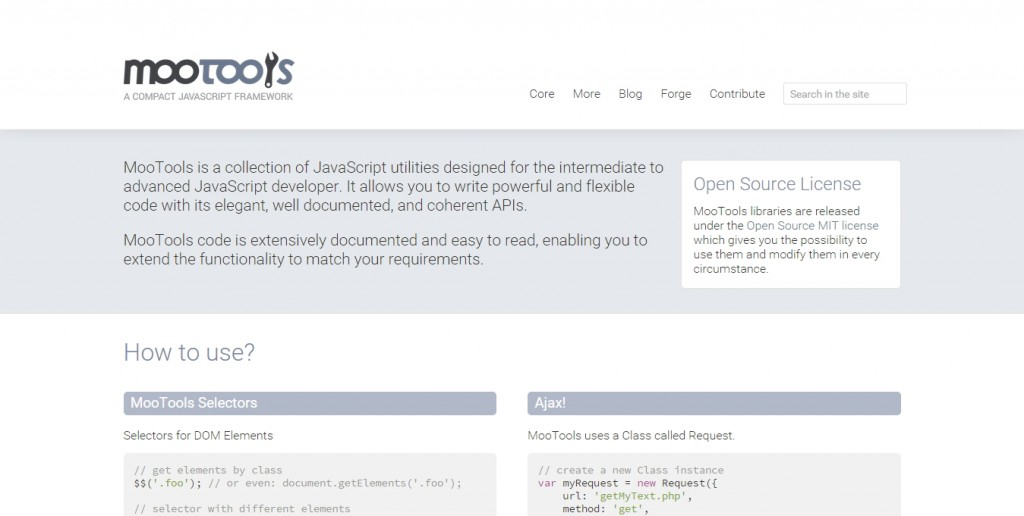 Programming crafting code never ending security mootools is a collection of different javascript libraries that allows you to write flexible code with greater ease using its apis fandeluxe Image collections