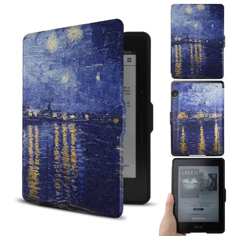 WALNEW Kindle Voyage Leather Case