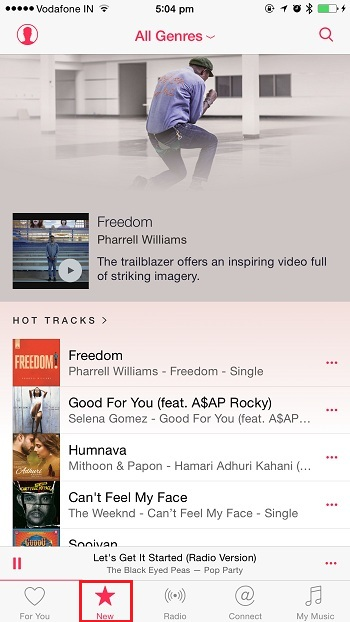 Apple Music - New tab