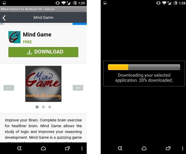 Download an app from GetJar