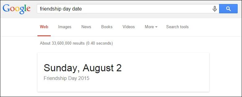 Get dates of Holidays