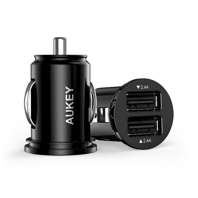 Aukey 24W Dual USB Car Charger Adapter