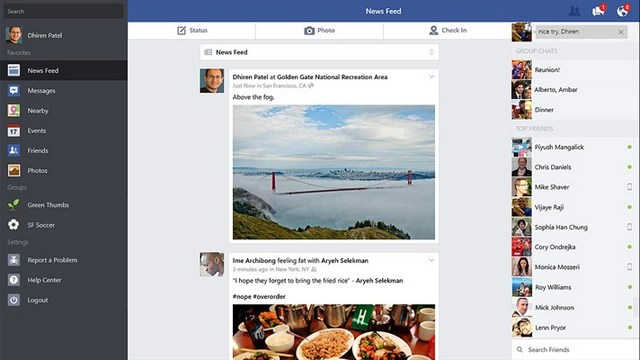 Facebook Official Windows App