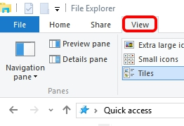 File Explorer ribbon