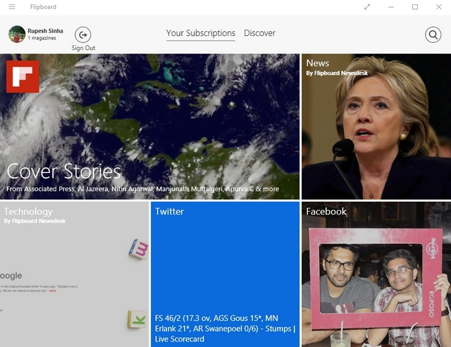 Flipboard Windows app