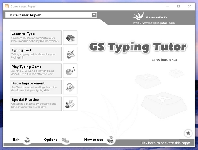 GS Typing Tutor