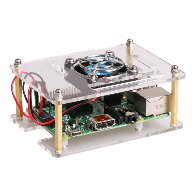 JBtek Transparent Raspberry Pi Case
