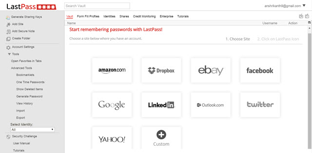 LastPass Data Exporting