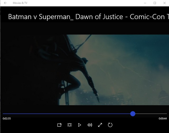 Windows 10 Movies & TV App