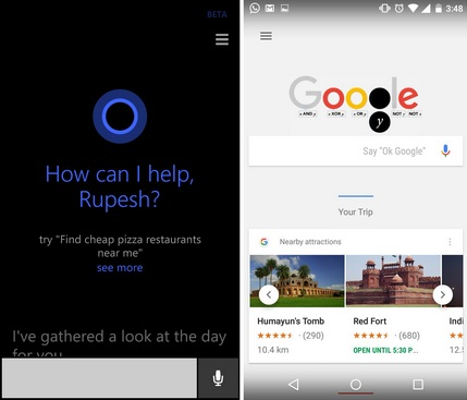 Google Now and Cortana