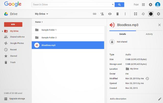 googledrive webui