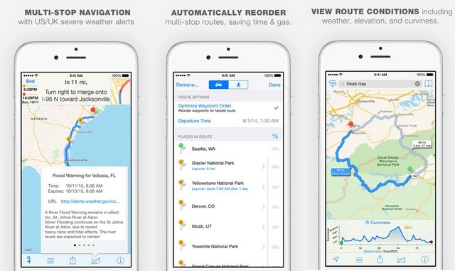 inRoute iOS app