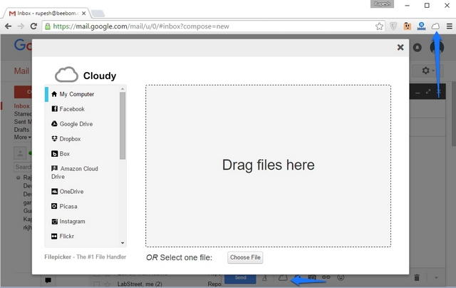 Cloudy for Gmail Extension
