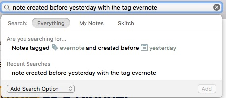 Evernote 4d - Searches - Natural
