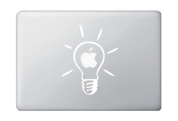 Lightbult Macbook Decal Sticker