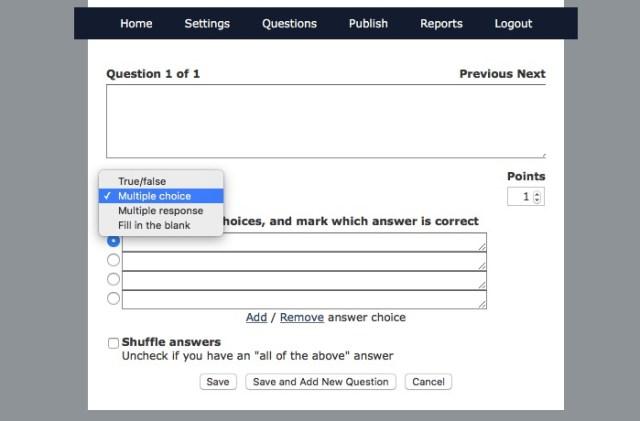 Online Quiz -bb- 08c - TestMoz Create