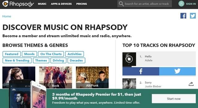 Rhapsody web