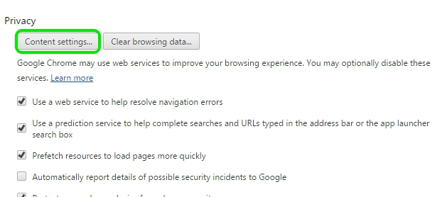 Chrome privacy settings (2)