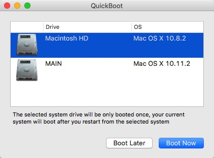 Mac Boot Options -bb- QuickBoot