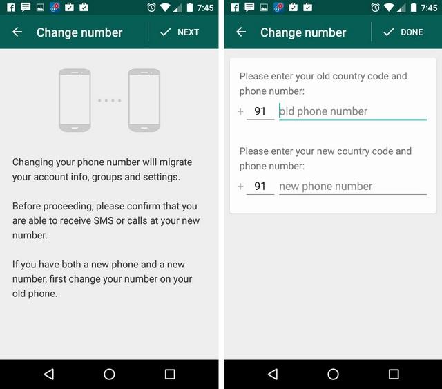 WhatsApp Tricks change number