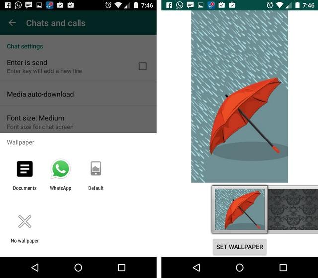 WhatsApp Tricks change wallpaper
