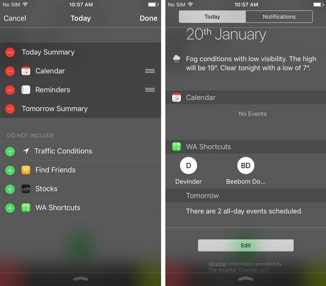 WhatsApp shortcut widget iPhone 2
