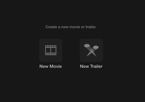 iMovie - movie or trailer