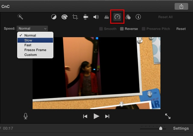 iMovie - speed